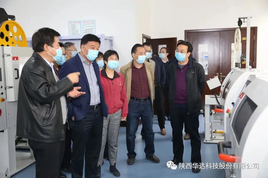 孙卫龙总经理带队 视察华达股份公司自动化生产线建设情况