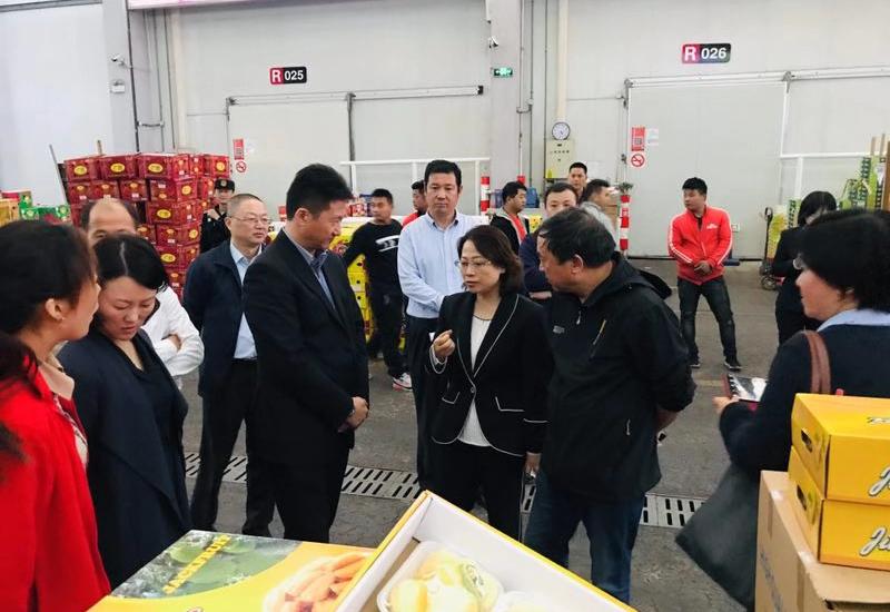 廖慧帶隊到上海蔬菜集團考察交流并參加第二屆進博會相關活動