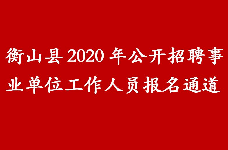 衡山县2020年公开招聘事业单位工作人员报名通道