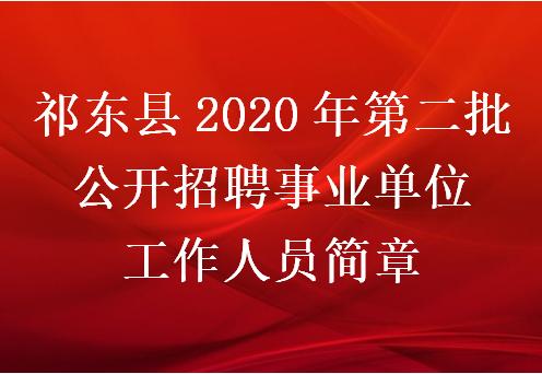 祁东县2020年第二批公开招聘事业单位工作人员简章