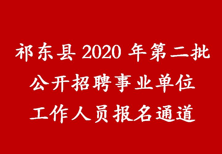 祁东县2020年第二批公开招聘事业单位工作人员报名通道