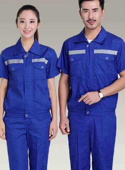 藍色反光短袖1