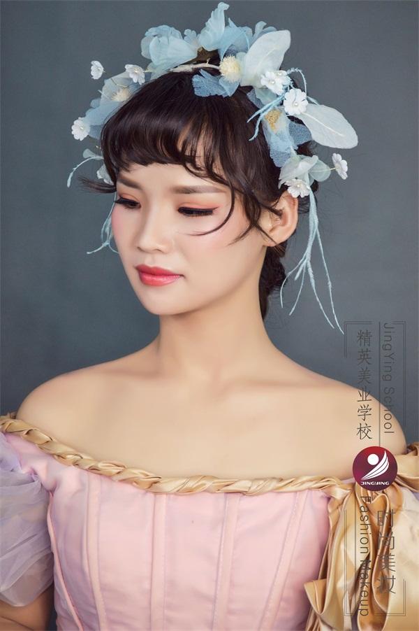 精英化妝培訓學校化妝作品三_時尚美妝培訓