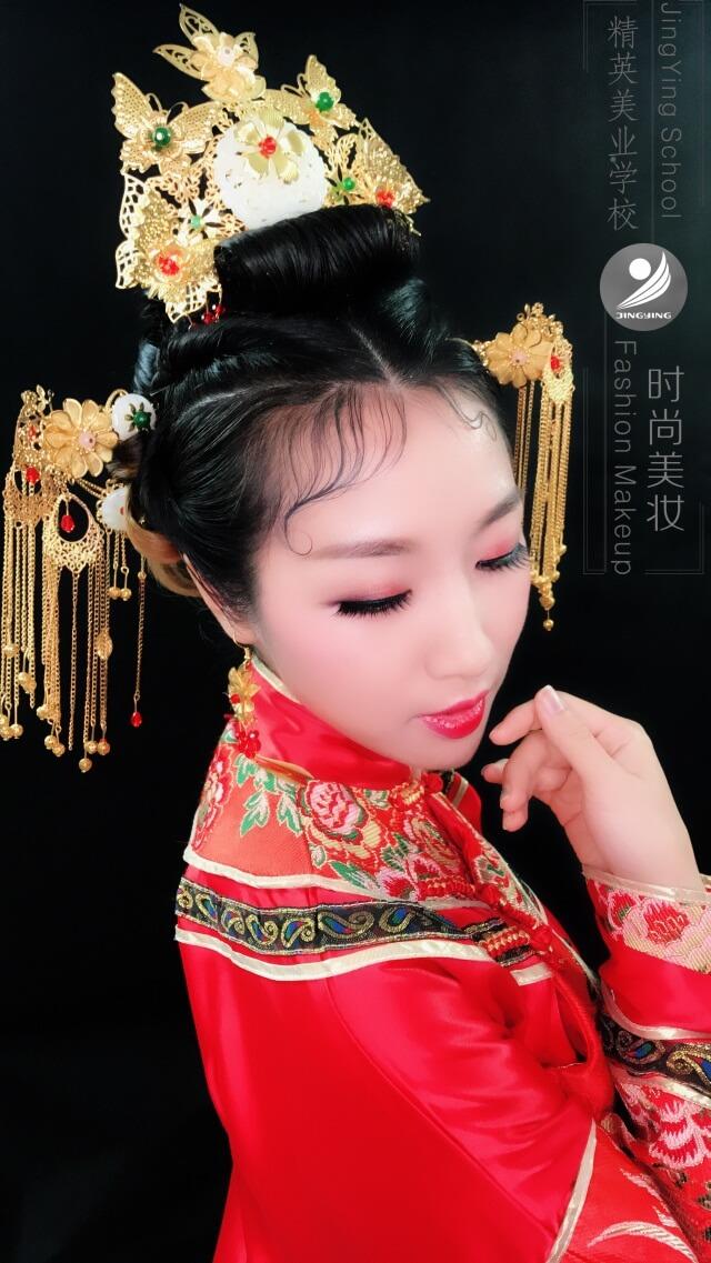 中國風秀禾服妝容造型作品圖片1