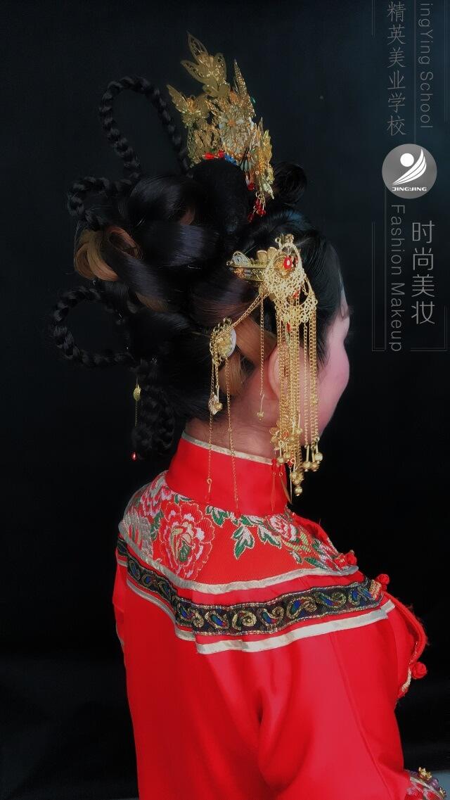 中國風秀禾服妝容造型作品圖片2
