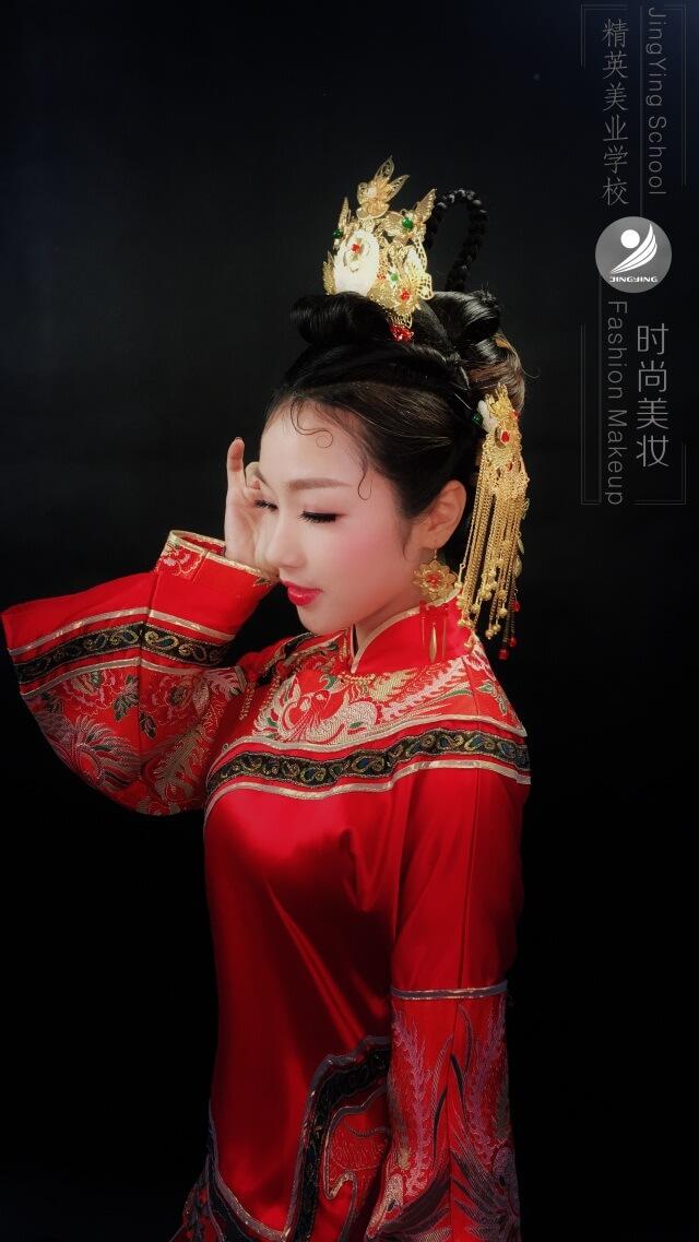 中國風秀禾服妝容造型作品圖片3