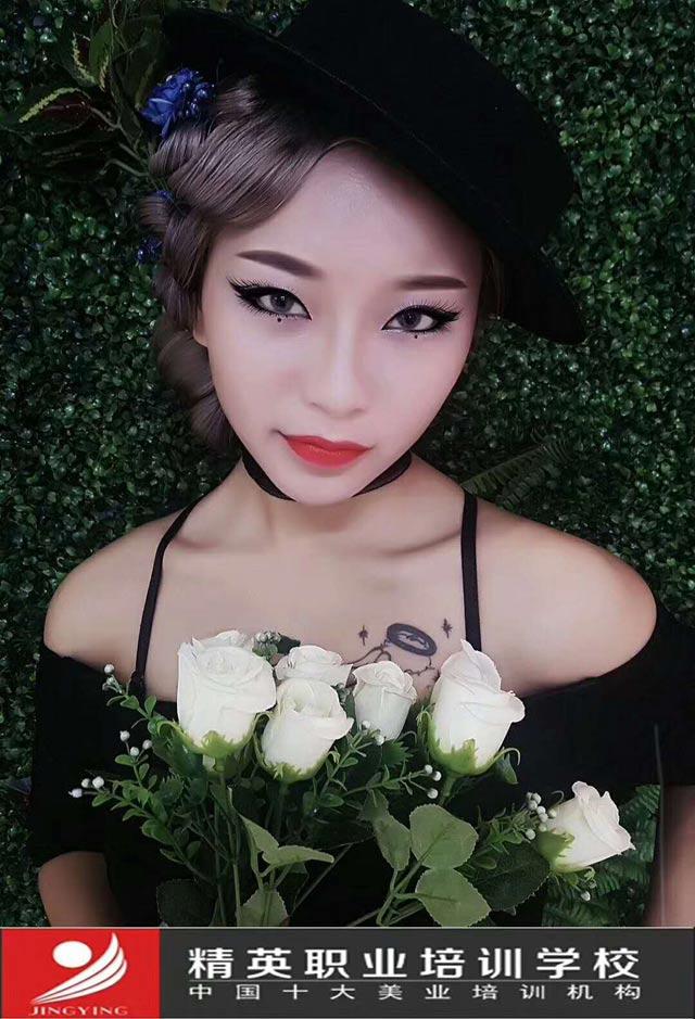 深圳時尚化妝培訓學校精英學校時尚化妝造型作品