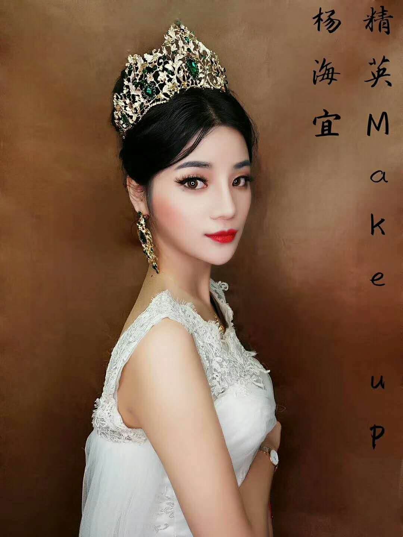 精英化妝培訓學校化妝培訓班學員作品:高貴新娘造型
