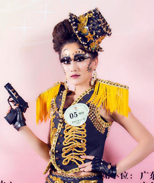第九屆中華兩岸世界潮流發型化妝技能大賽作品1