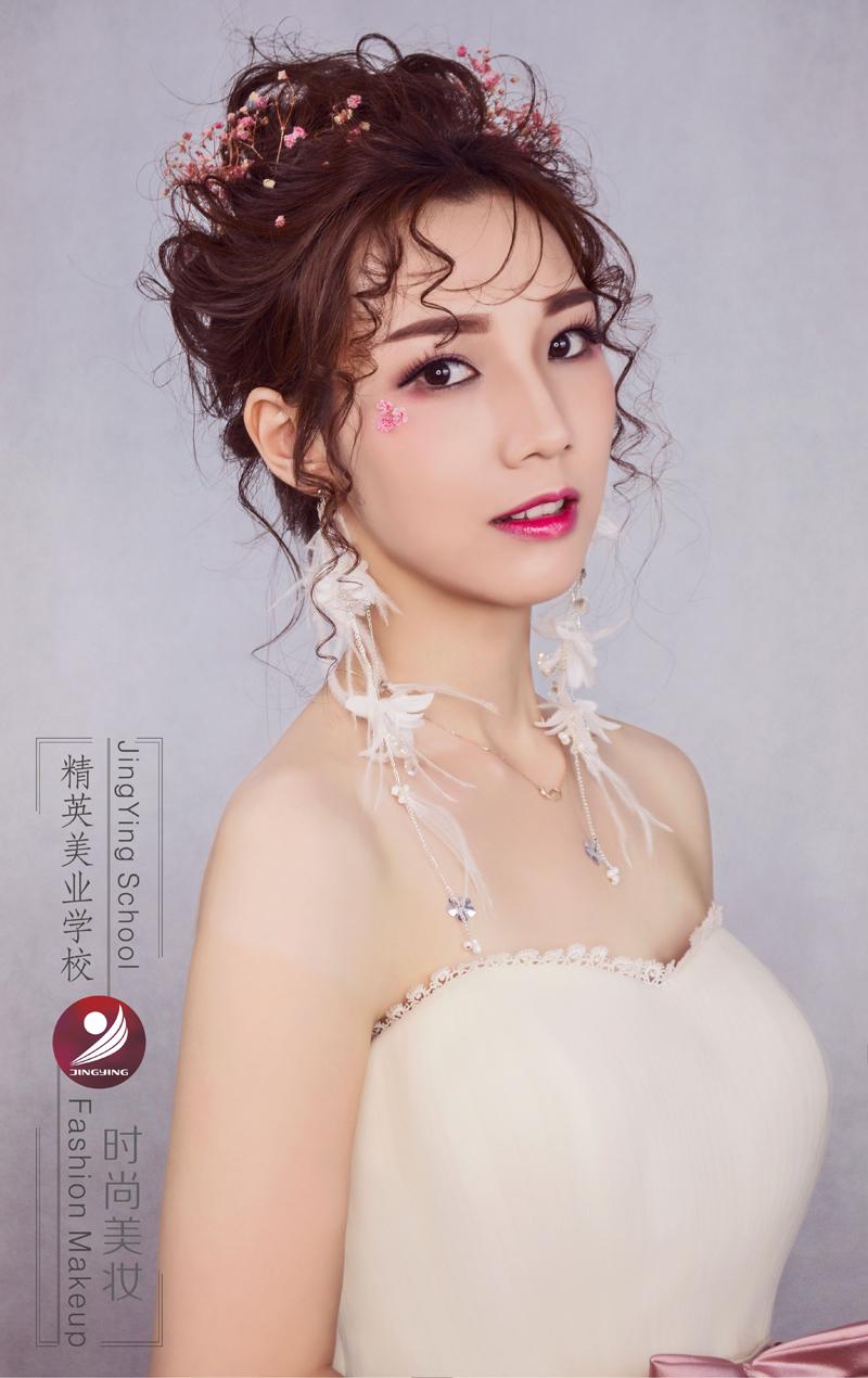 精英化妝學校時尚鮮花新娘造型
