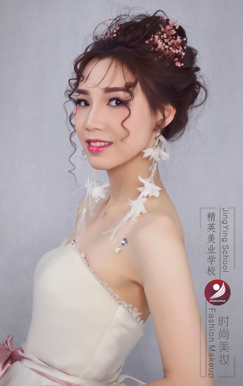 精英化妝學校時尚鮮花新娘造型圖片