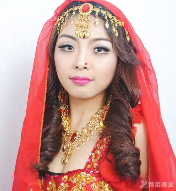 化妝學習課堂: 嫵媚印度造