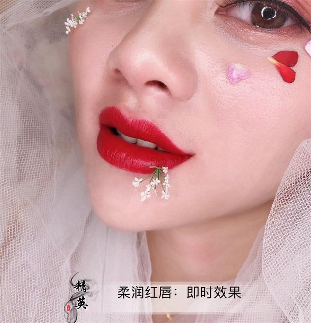 半永久紋唇作品:柔潤紅唇