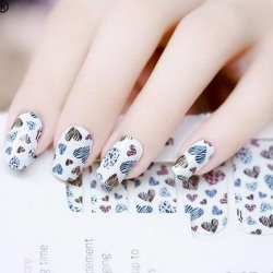 小清新花紋指甲貼