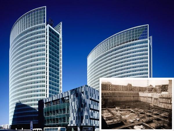 北京內貿部商展大廈高層住宅樓基坑支護、降水工程