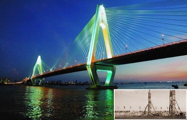 天津海河斜拉橋樁工程
