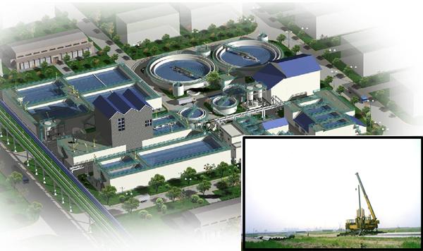 唐山南堡經濟開發區堿廠雙十萬靜壓樁工程