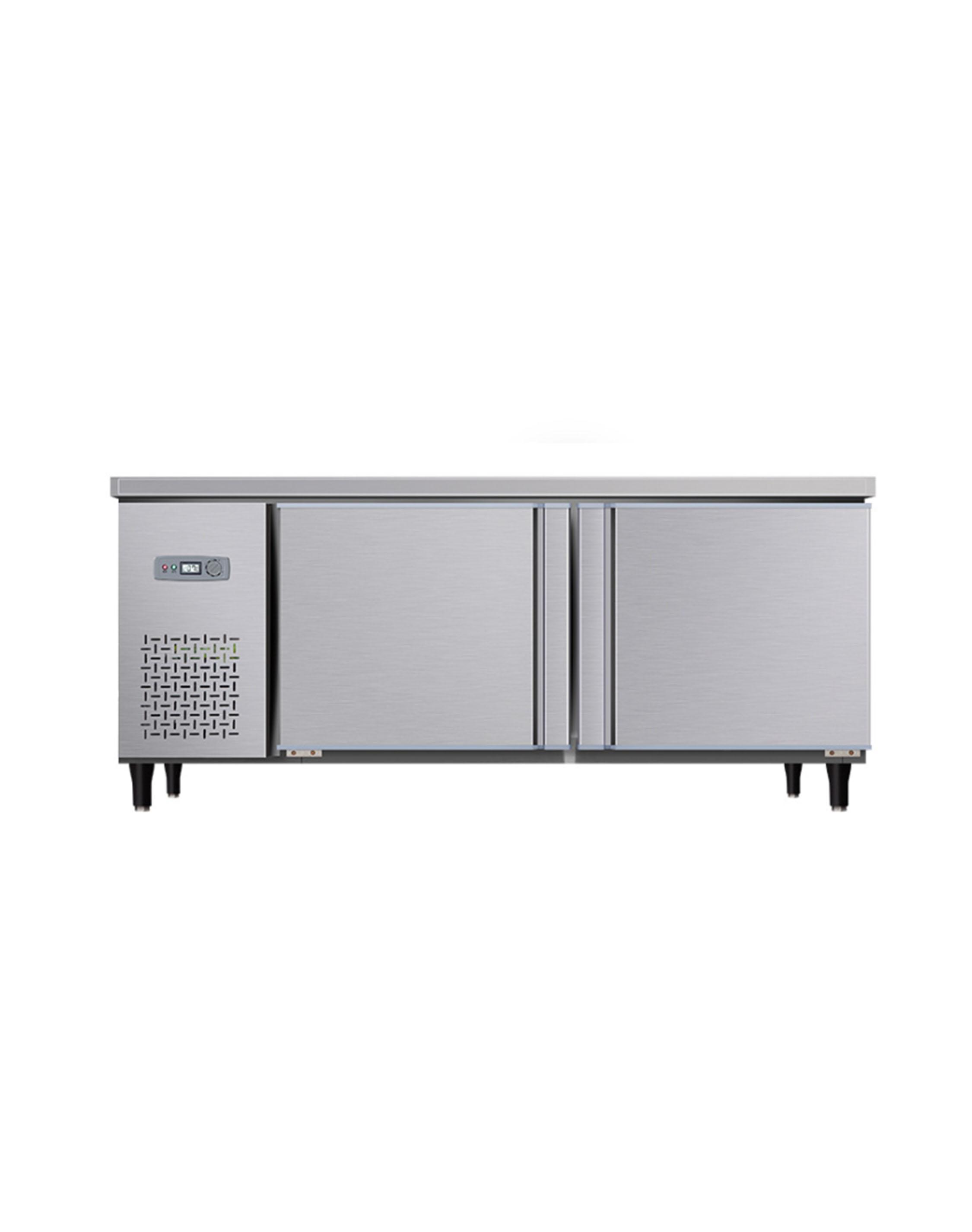 厨房设备双门制冷台柜定做