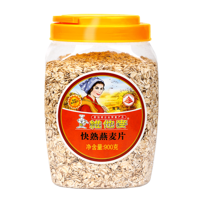 快熟燕麦片900g桶-透明