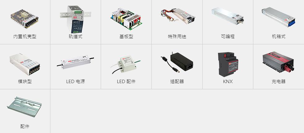臺灣明緯電源系列產品圖