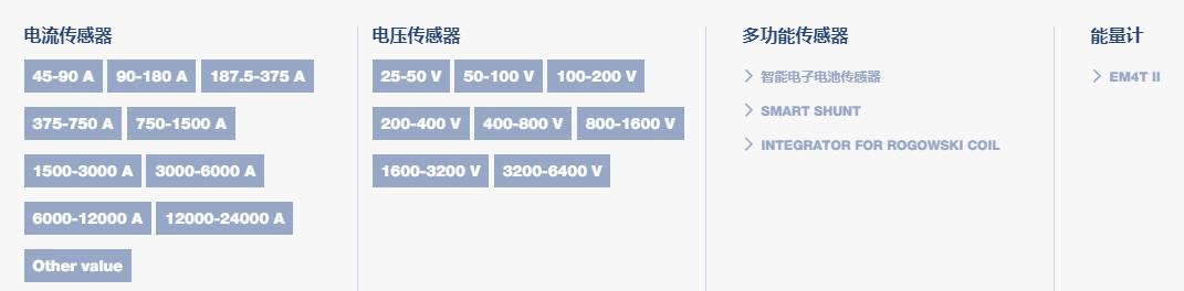 瑞士萊姆電壓電流傳感器系列圖