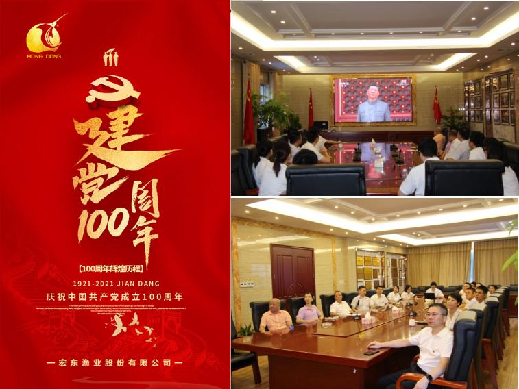 宏東公司黨支部認真聆聽并深入學習習近平總書記在慶祝中國共產黨成立100周年大會上的重要講話