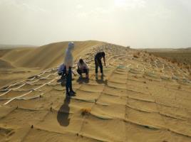金塔防沙压沙项目现场踏勘-5.21