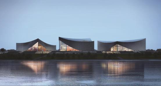 湖边的建筑  描述已自动生成
