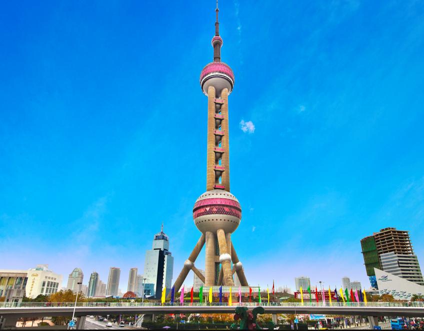 上海东方明珠广播电视塔动工,在该项目中,TWT为其提供全部对夹蝶阀及止回阀。