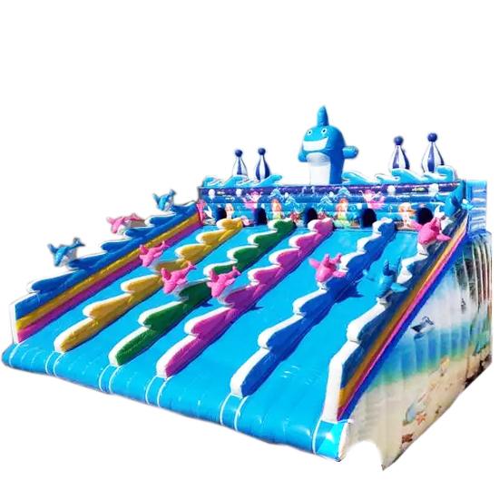 支架水池充气水池配套滑梯