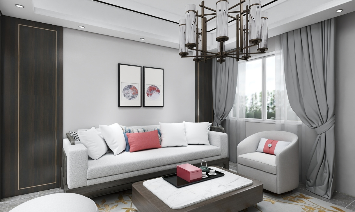 定制新中式客厅-2