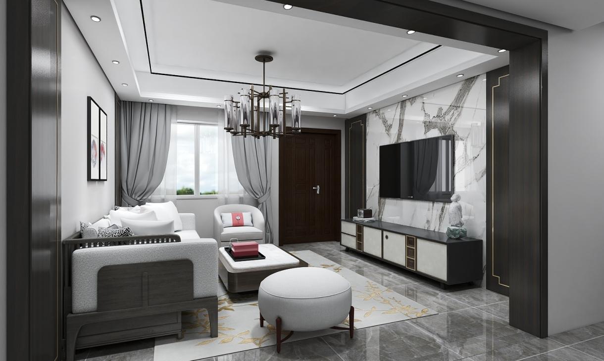 定制新中式客厅