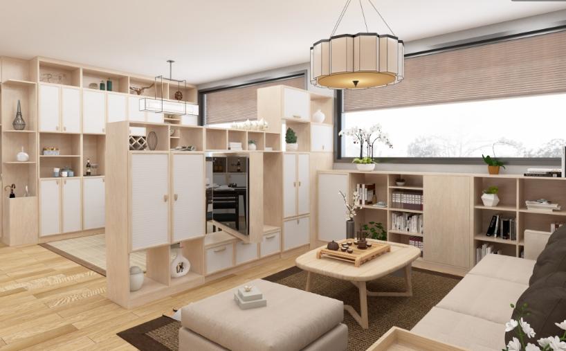 定制客厅-书柜