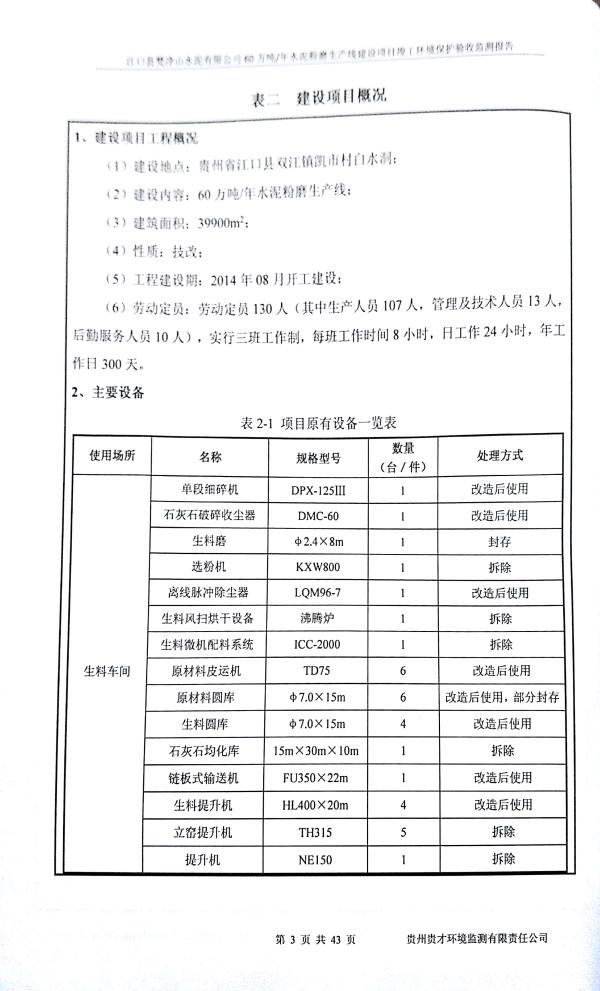 江口縣梵淨山水泥有限公司環境驗收監測報告_6