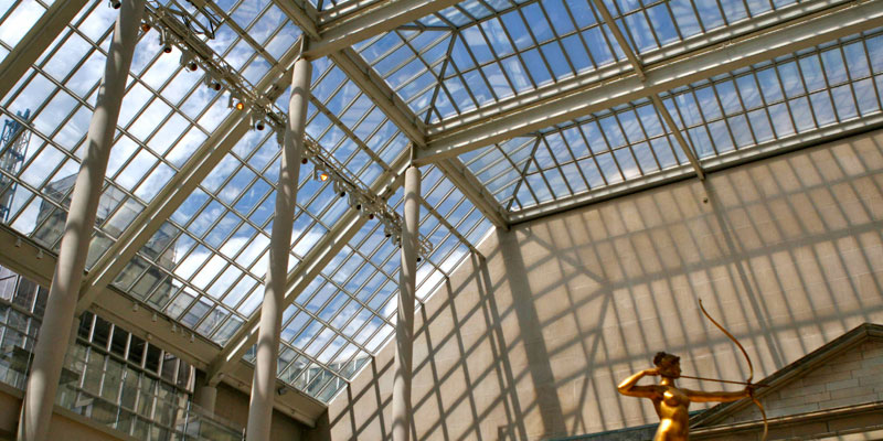 酒店采光頂玻璃隔熱降溫節能