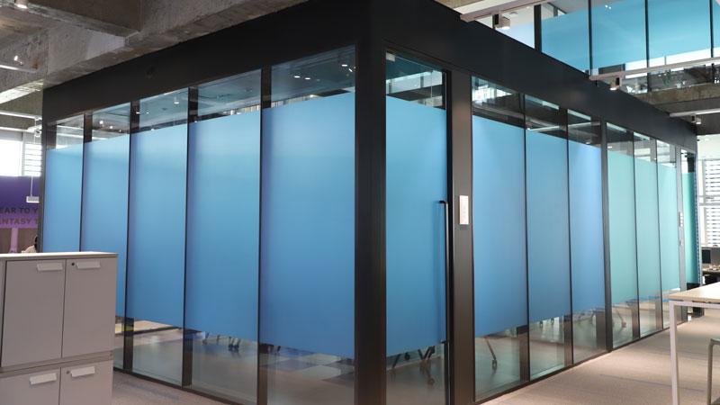 花樣年辦公室玻璃磨砂膜