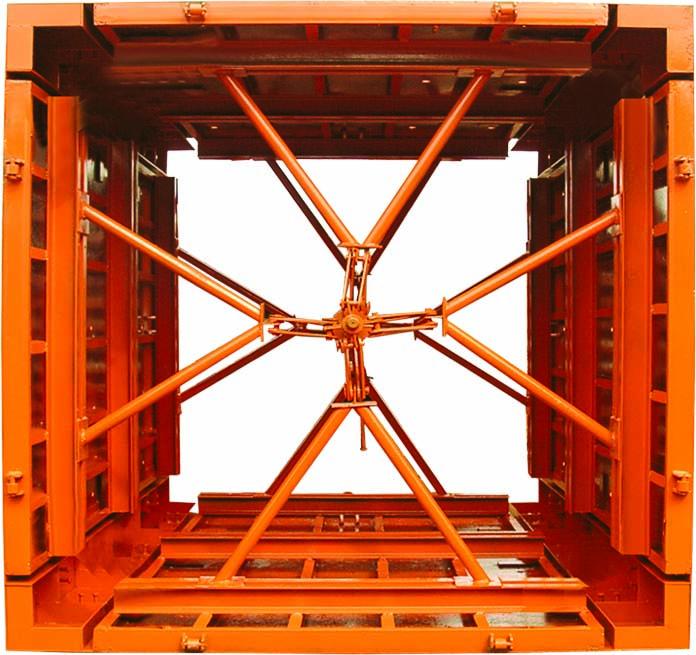 可调式电梯井筒模板