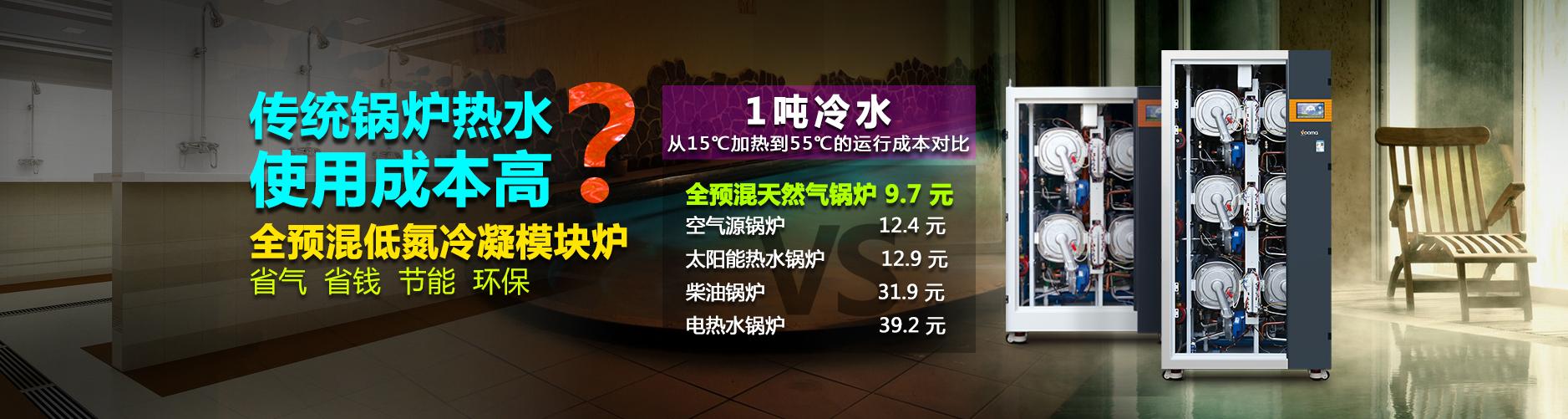 锅炉热水成本对比