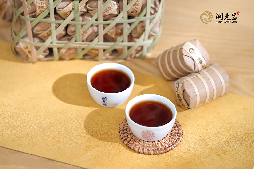 润元昌玲珑小班章普洱熟茶饼
