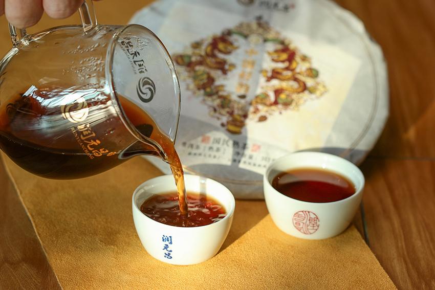 润元昌中国好韵熟茶茶汤