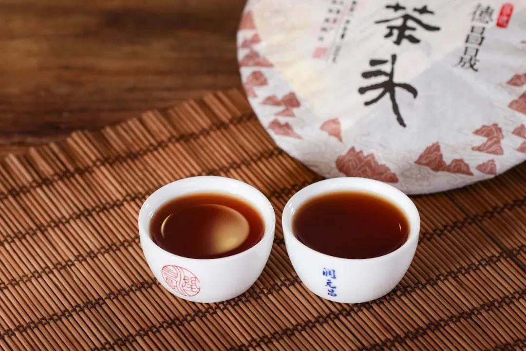 易武老茶头熟茶汤图