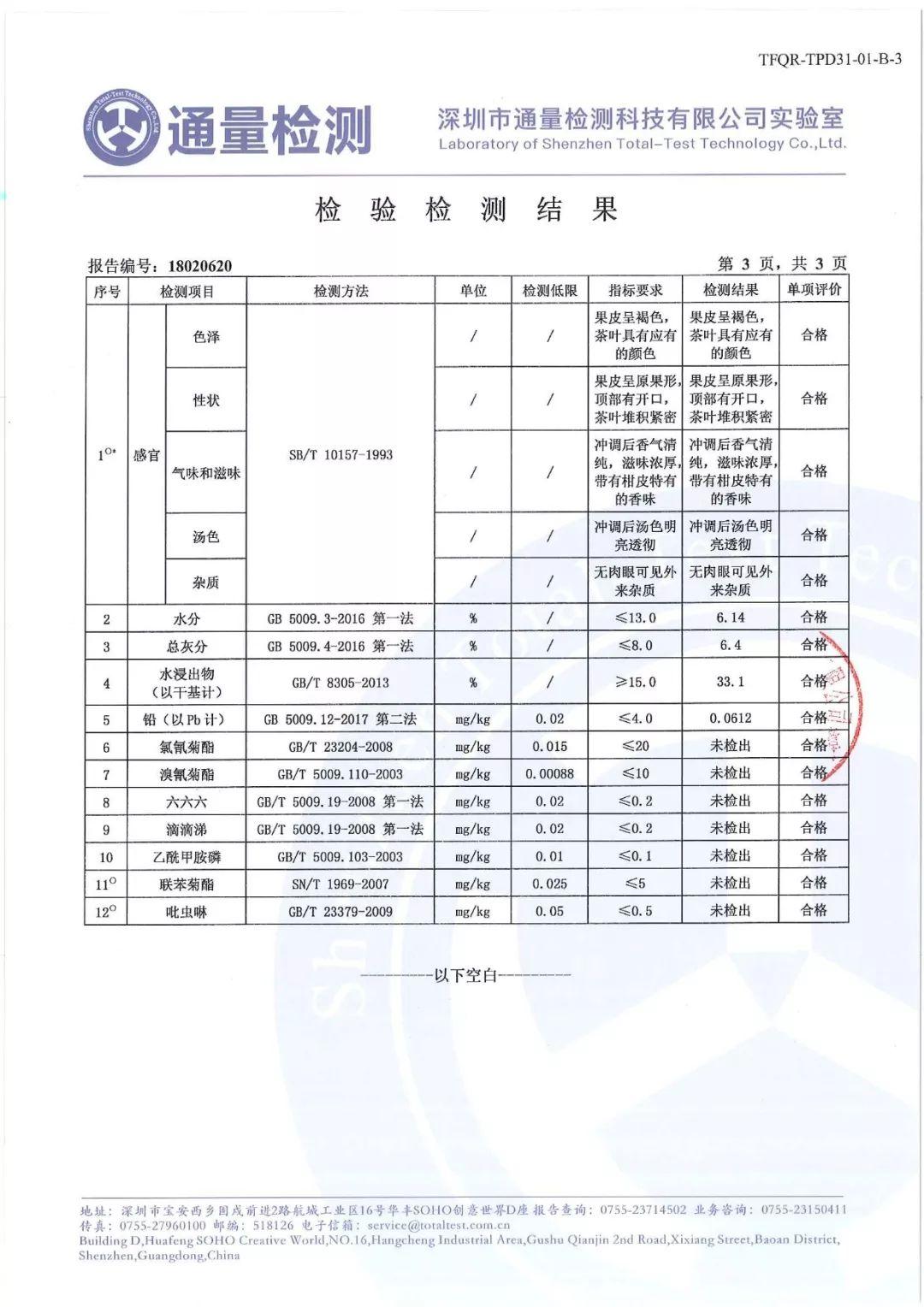润元昌柑普茶安全质量-2