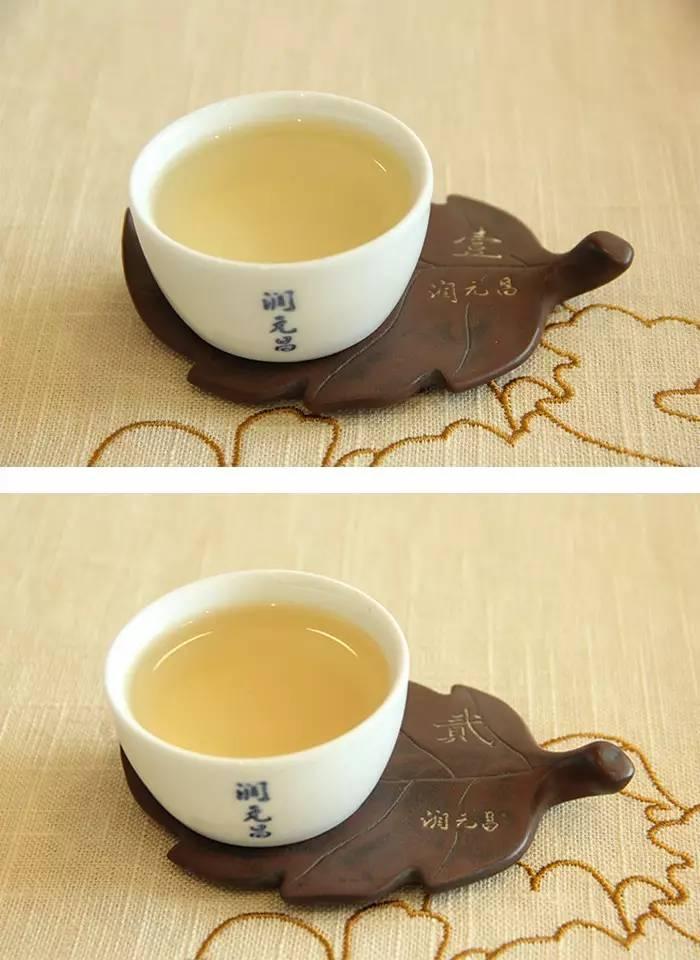 1润元昌普洱茶布朗金藏开汤