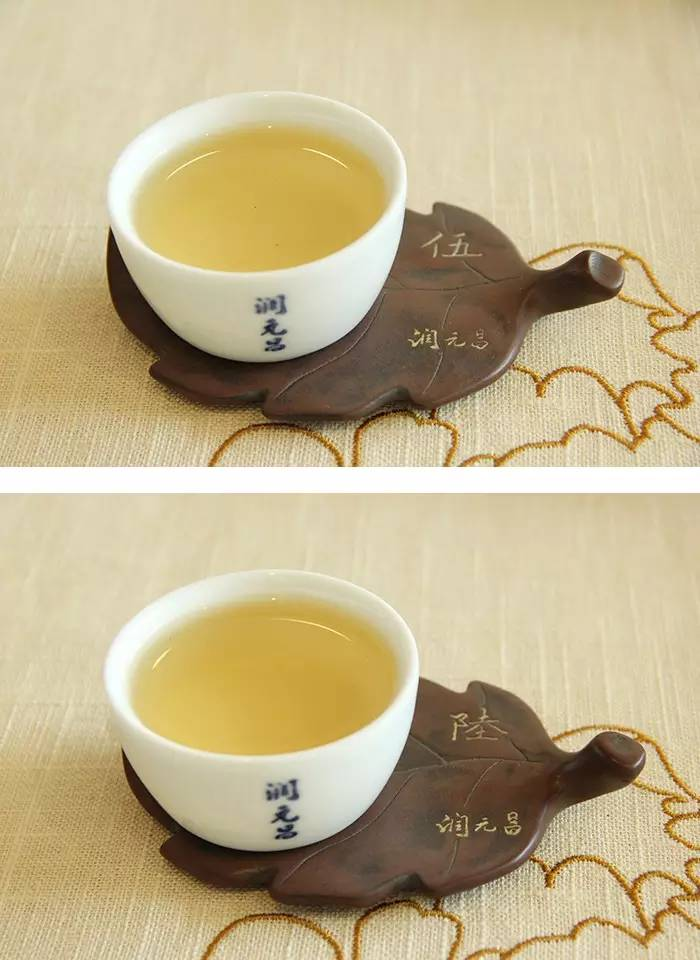 3润元昌普洱茶布朗金藏开汤