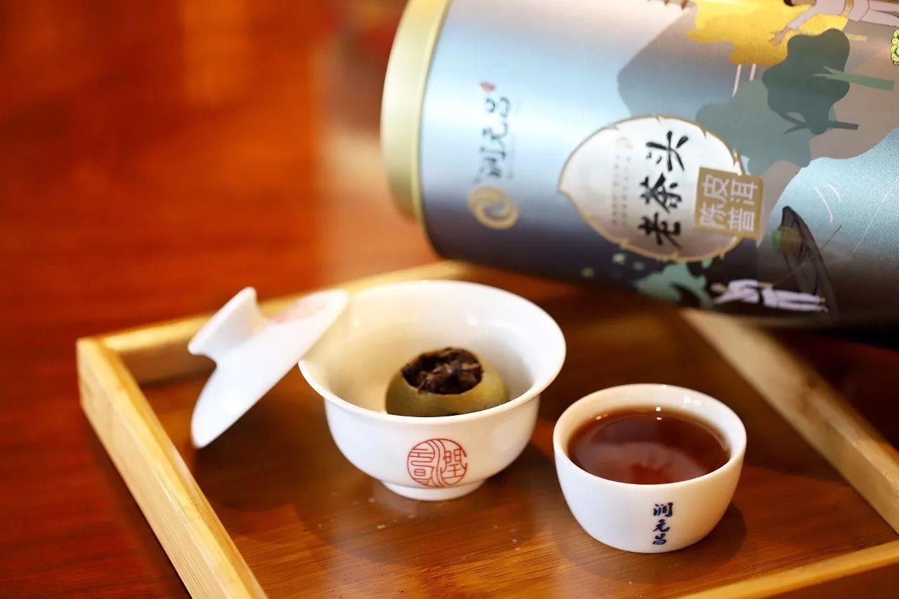 润元昌2017年老茶头小青柑柑普茶