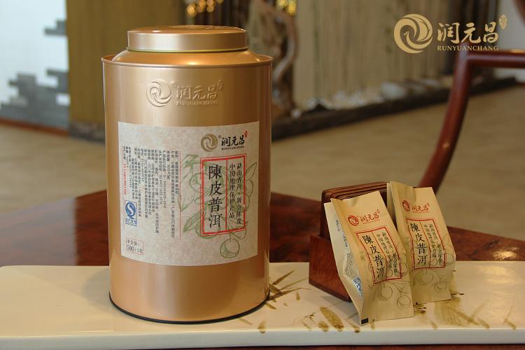 2015年润元昌陈皮普洱-金罐装1