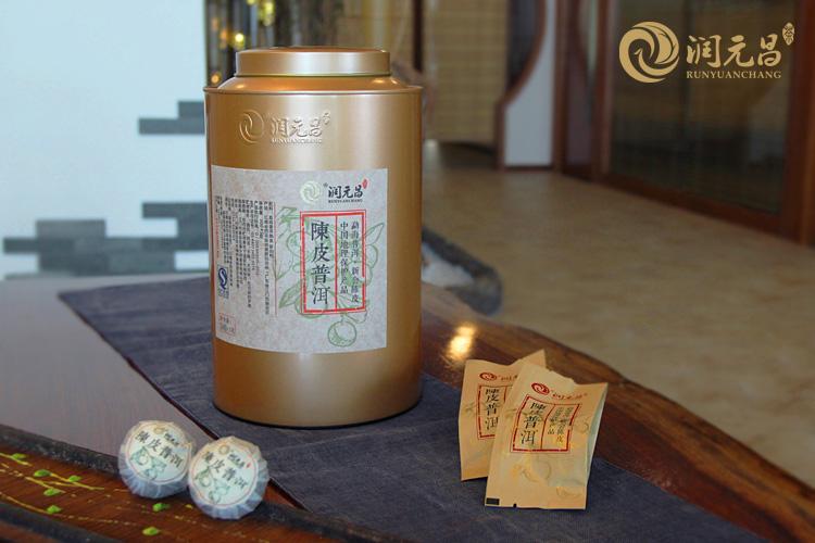 2015年润元昌陈皮普洱-金罐装2