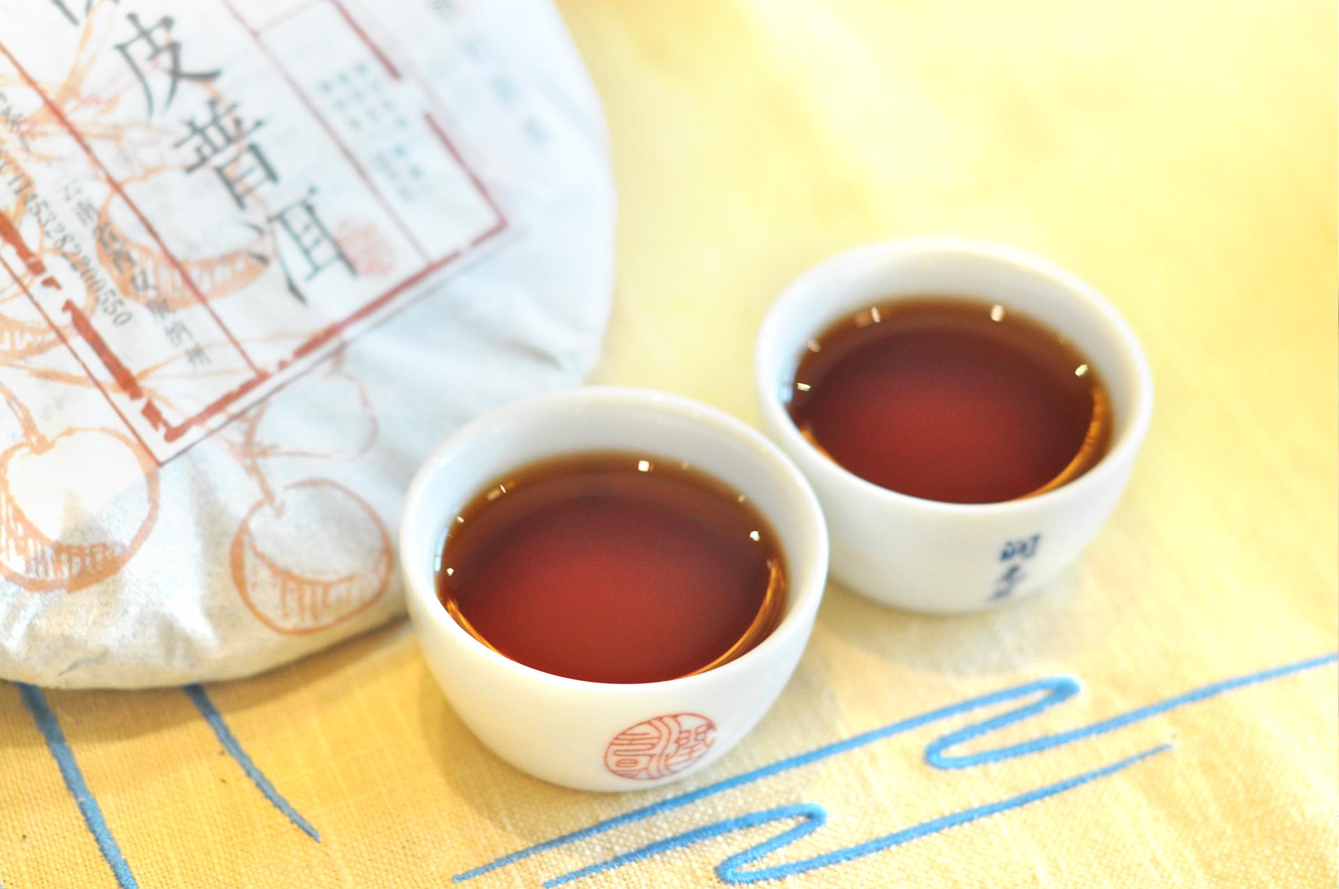 润元昌2016年润甘陈皮普洱3