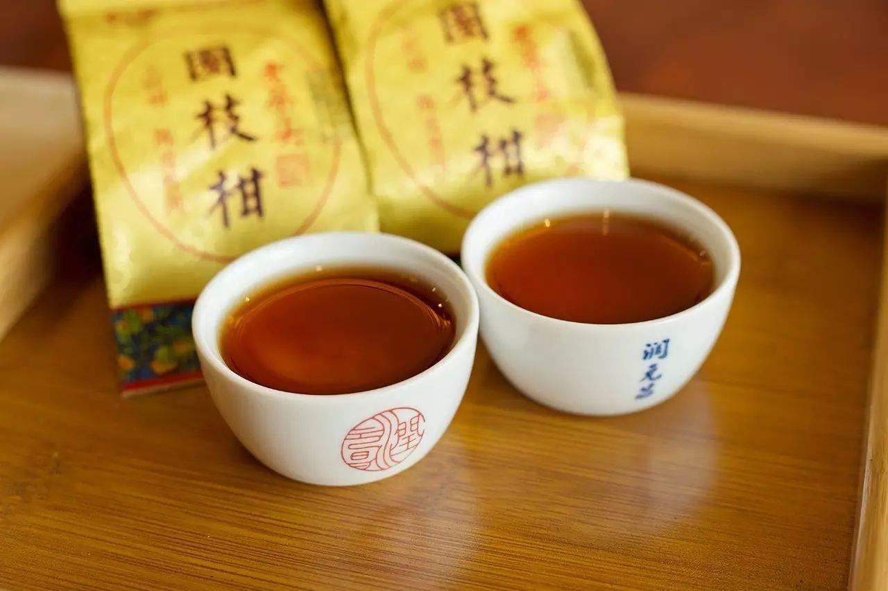 润元昌2016年圈枝柑老茶头大红柑柑普茶