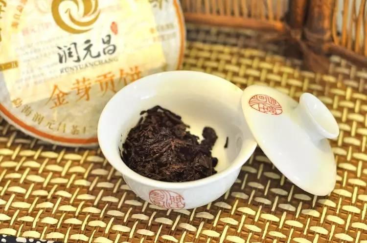 润元昌2015年金芽贡饼熟茶普洱熟茶宫廷系列